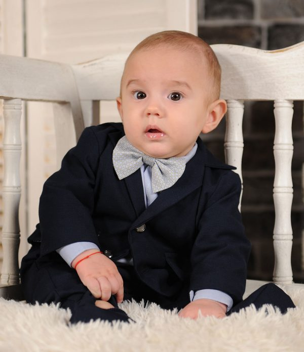 Costum botez albastru Thomas
