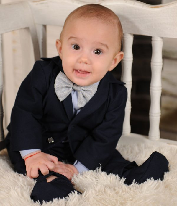 Costum botez albastru camasa albastra Thomas