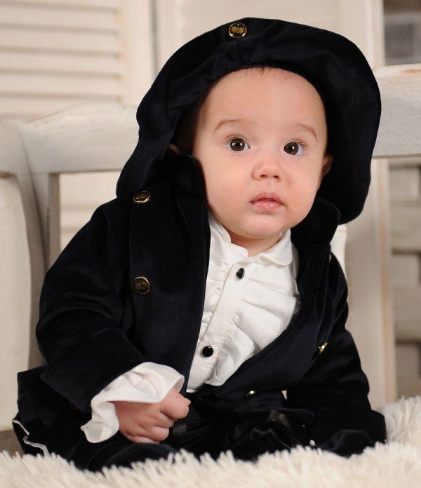 Costumas de botez negru Conte