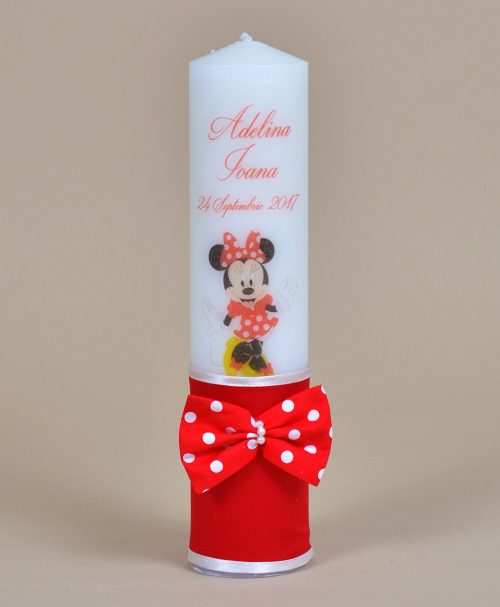 Lumanare de botez Minnie Mouse