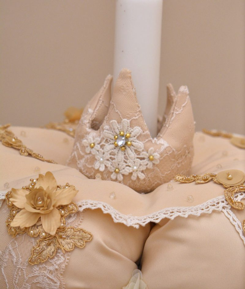 Lumanare de botez coroana accesorii couture bebe