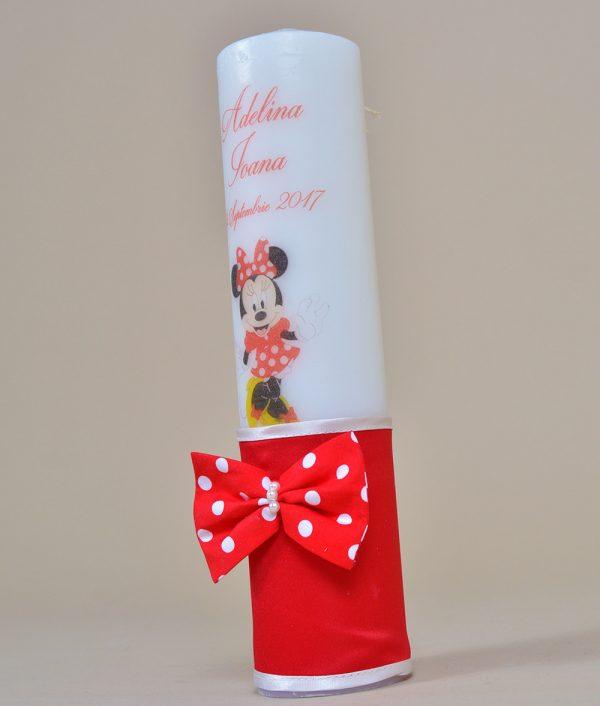 Lumanare de botez personalizata Minnie Mouse