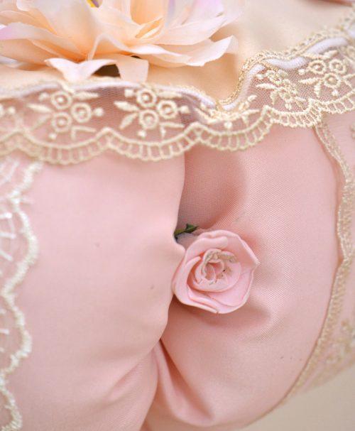 Lumanare de botez ursulet roz trandarif