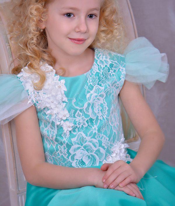 Rochie de ocazie copii Salma flori 3d