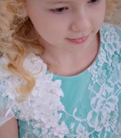 Rochie de ocazie copii Salma broderie 3d
