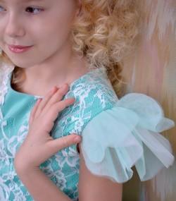 Rochie de ocazie copii Salma detaliu