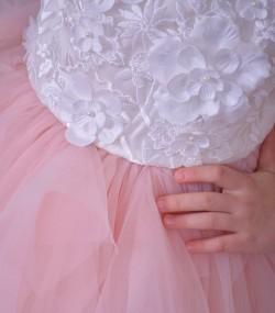 Rochie de ocazie cu flori 3d Rosalia