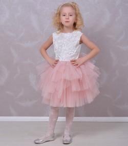 Rochie de ocazie pentru fete Rosalia alba
