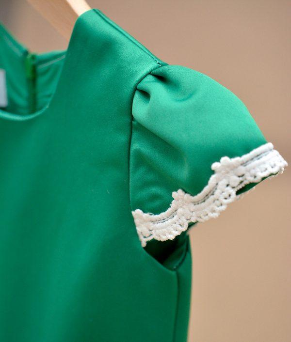 Rochita de ocazie Jelly Verde macrame