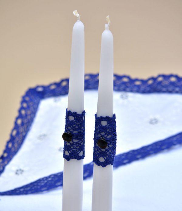 Trusou botez biserica albastru lumanare