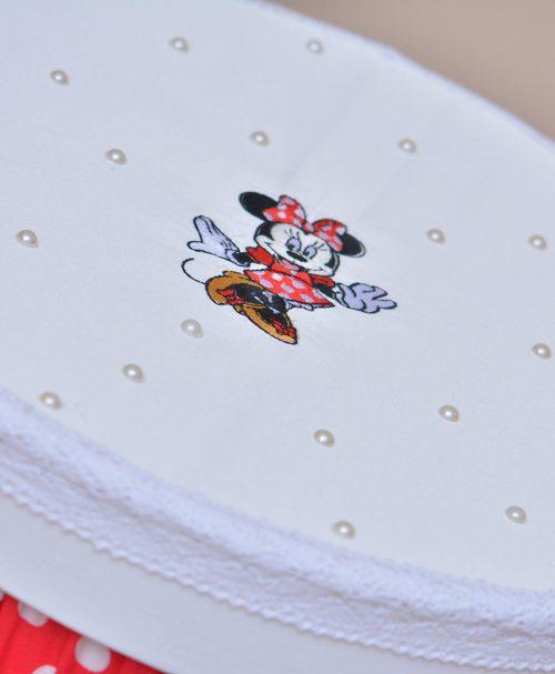 cutie botez Minnie rosu