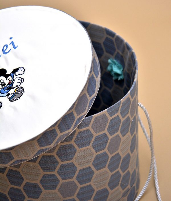 cutie trusou botez personalizata albastra mickey fotbalist