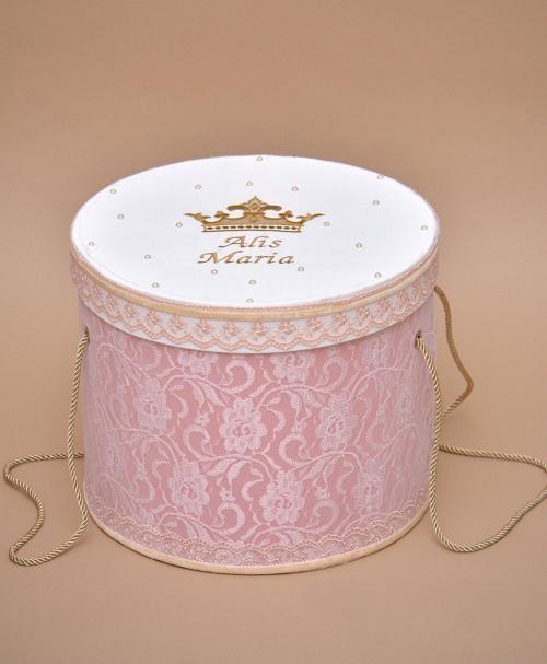 cutie trusou botez personalizata coroana