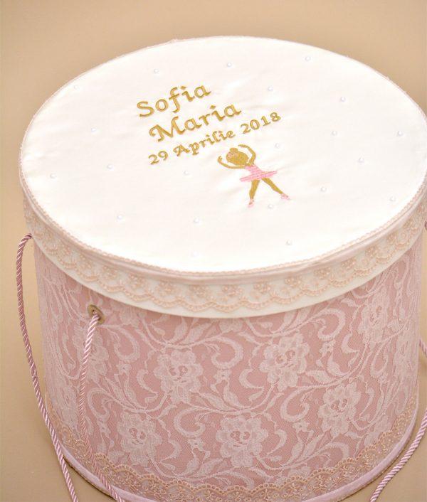 cutie trusou botez roz micuta balerina
