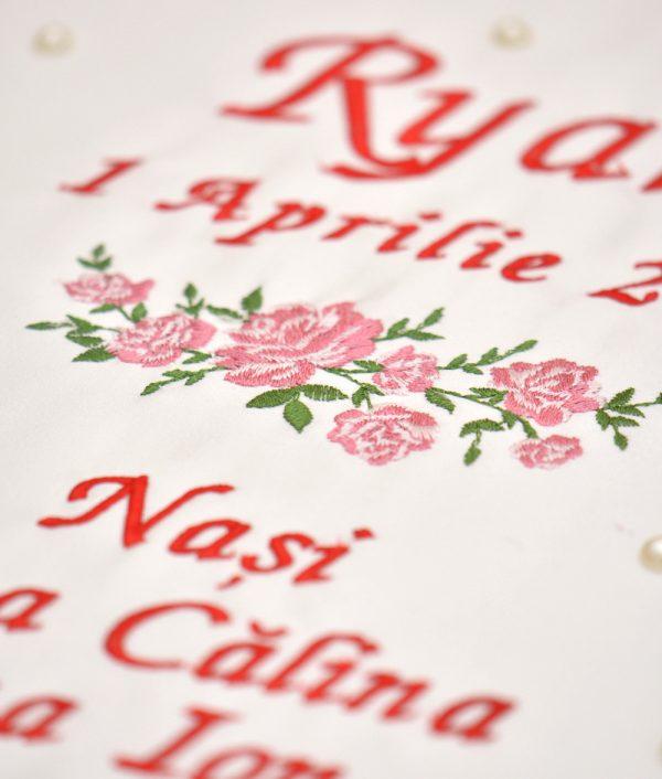 cutie trusou flori rosie