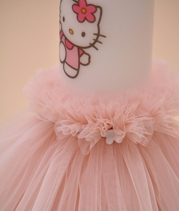 lumanare botez hello kitty detaliu doi