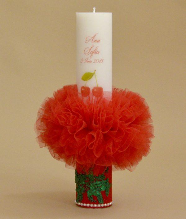 lumanare botez personalizata cirese cherry