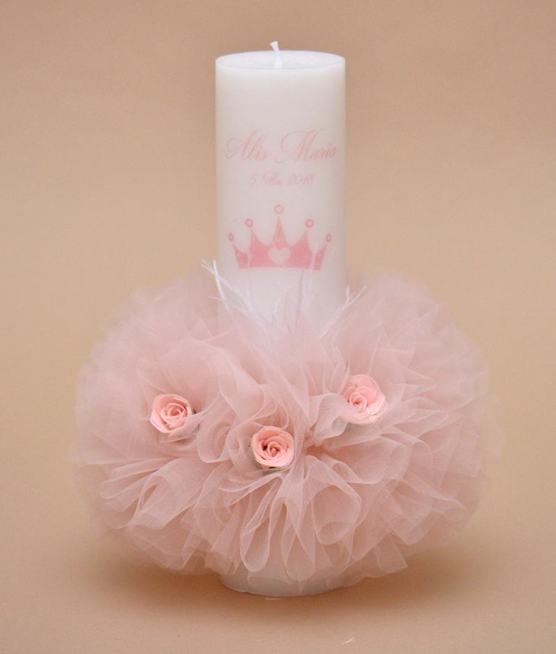 lumanare botez personalizata princess