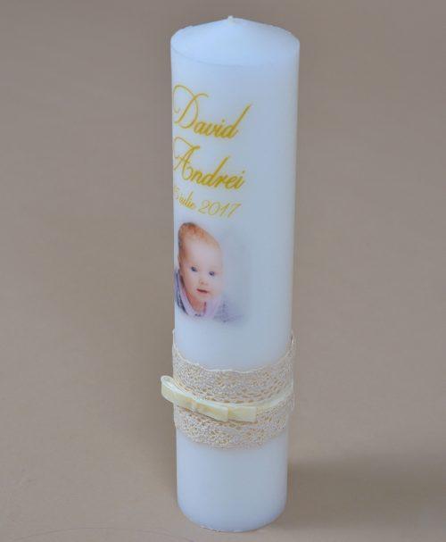 Lumanare botez poza bebe