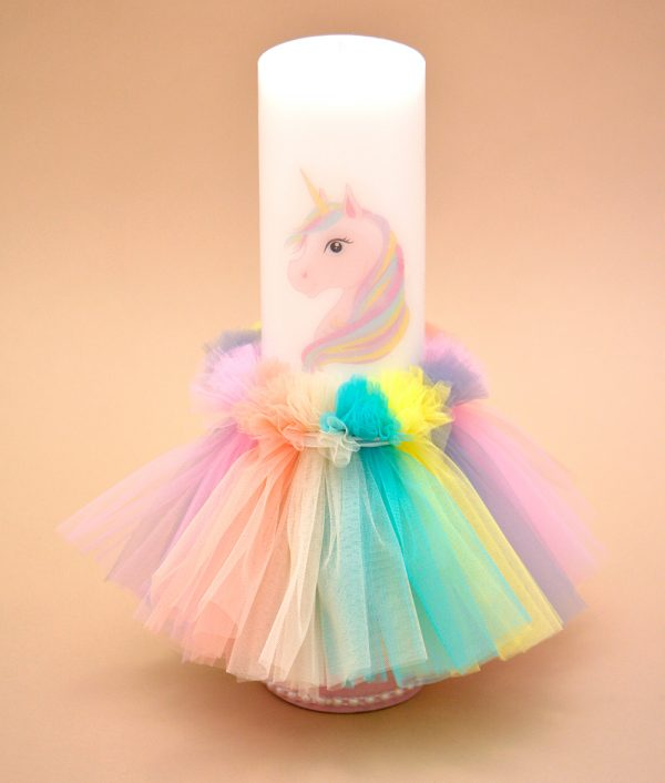 Lumanare botez unicorn