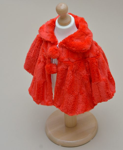 Palton copii Rosu Blossom Couture Bebe
