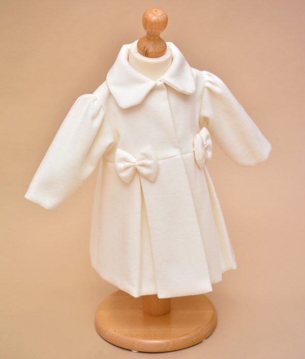 Palton copii Melanie alb