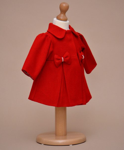 palton copii rosu