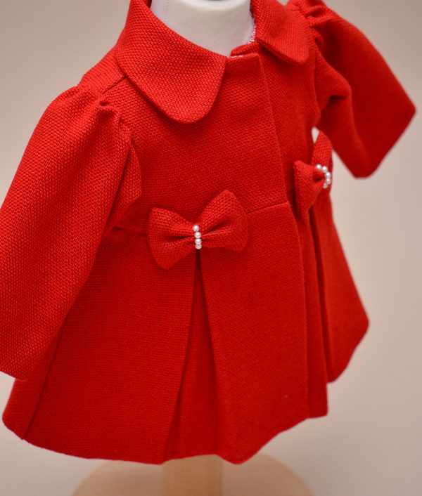 palton fete rosu
