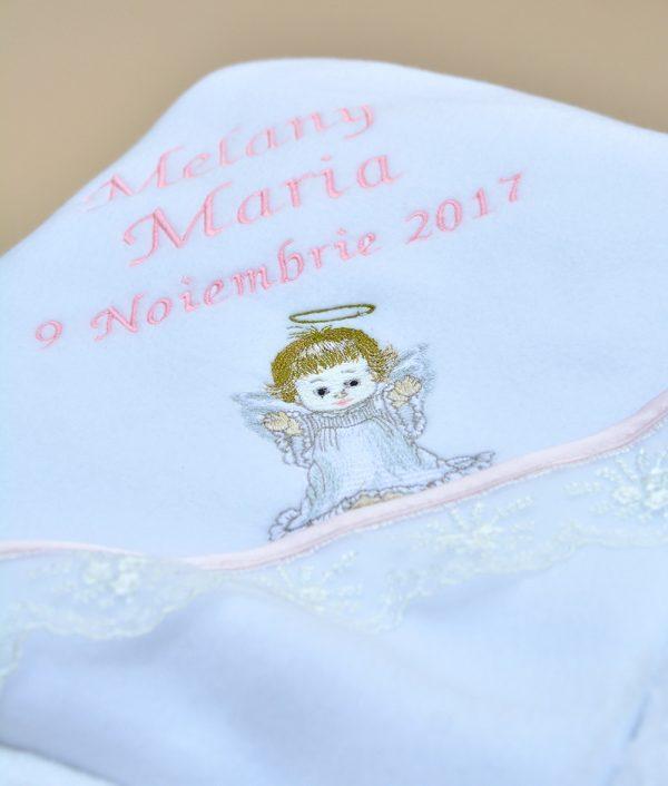 Paturica trusou de botez ingeras Couture Bebe