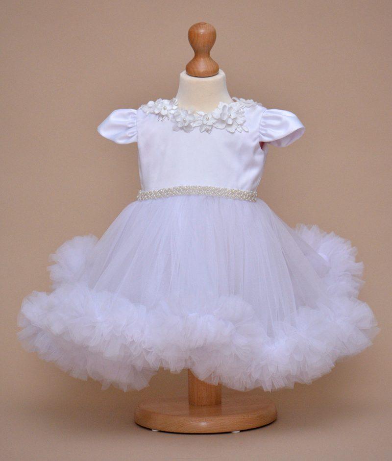 rochie botez Alba