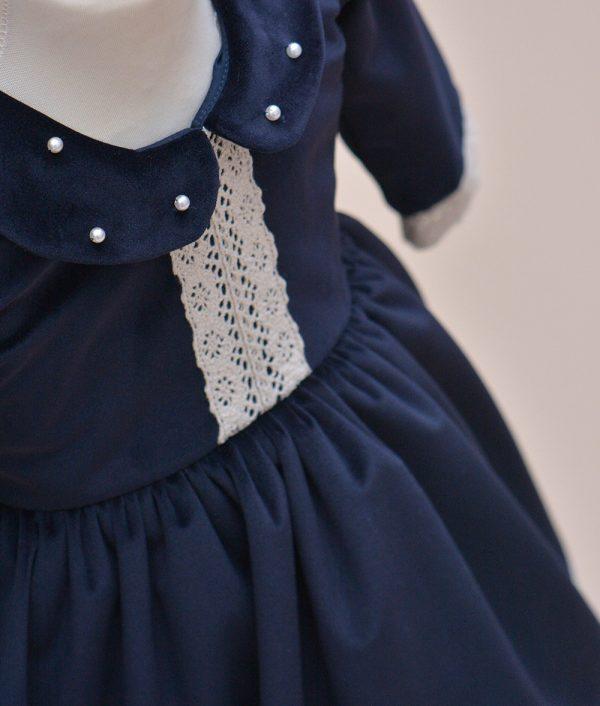 rochie botez albastra