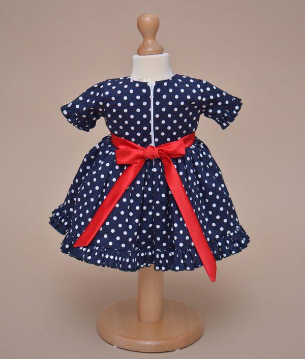 rochie botez albastra puncte albe Aimee