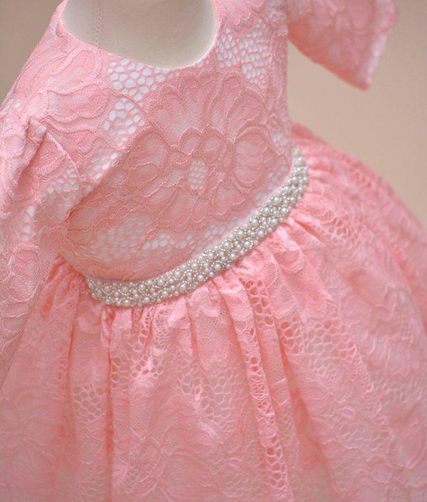 rochie botez roz Vanda