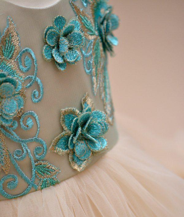 rochie botez verde