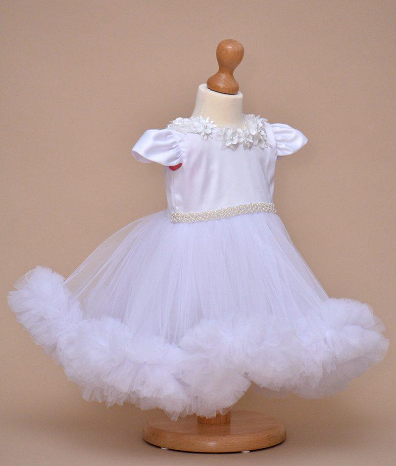 rochie de botez Alba