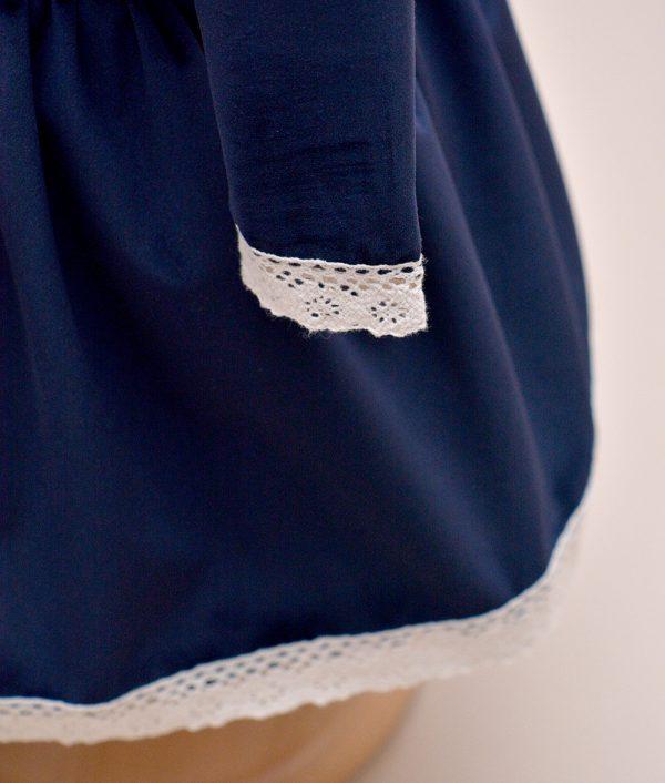 rochie de botez albastra Velvet