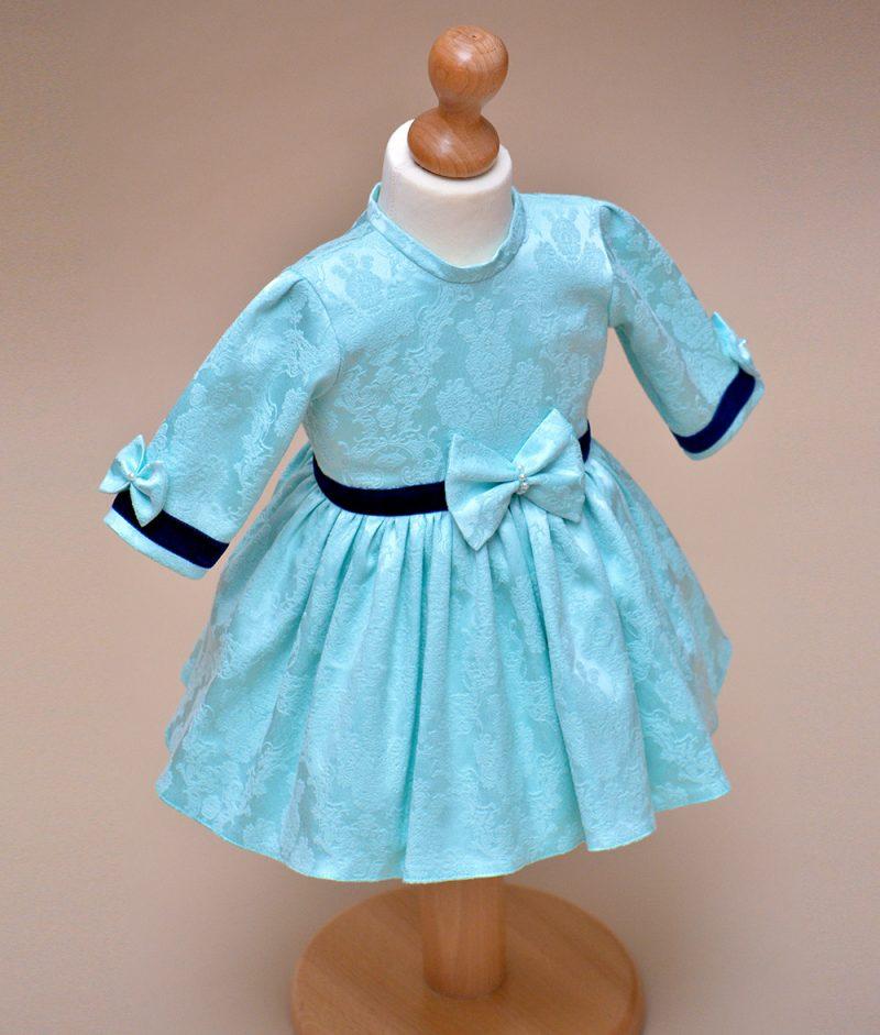rochie de botez bleu