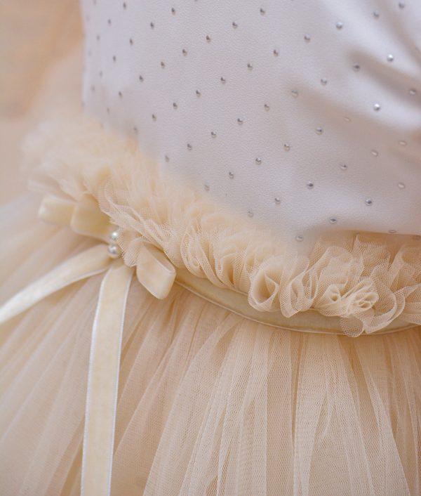 rochie de botez crem