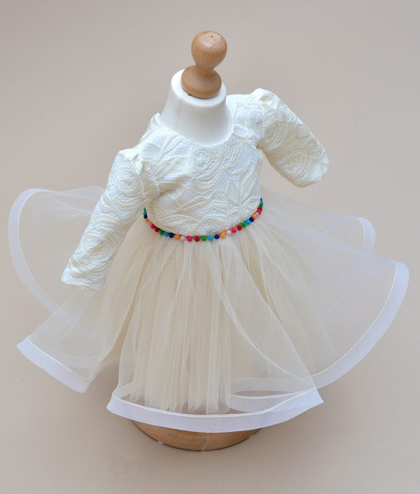 Rochie de botez Couture Bebe dantela alba