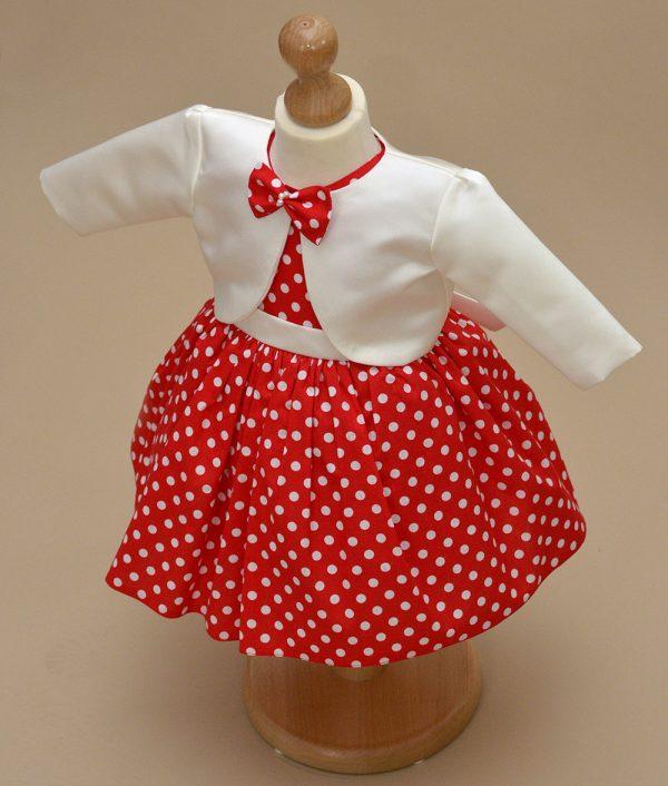 rochita botez Sara alb rosie bolero