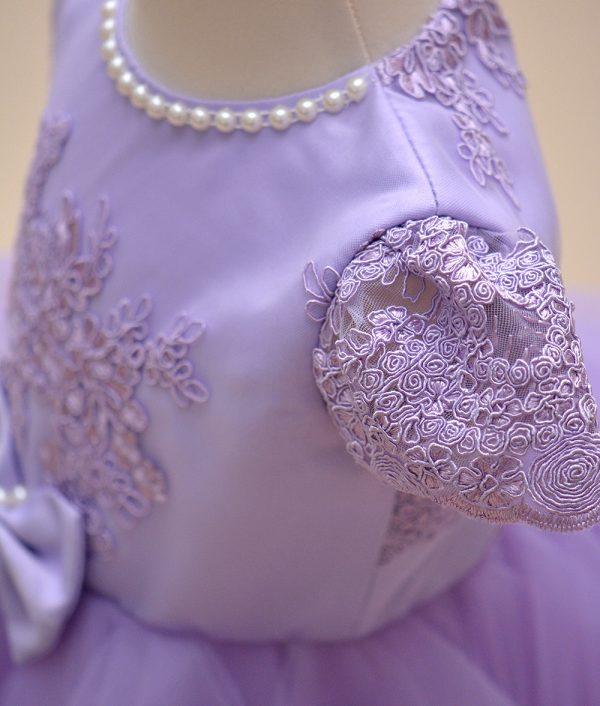 rochita de botez Purple dantela