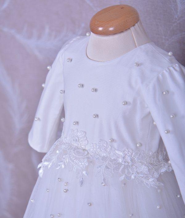 rochita de botez eliza dantela chantily