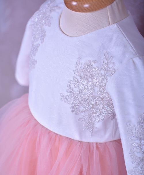 rochita de botez tull roz moale