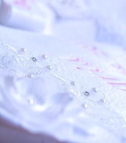 Paturica trusou botez dantela perle