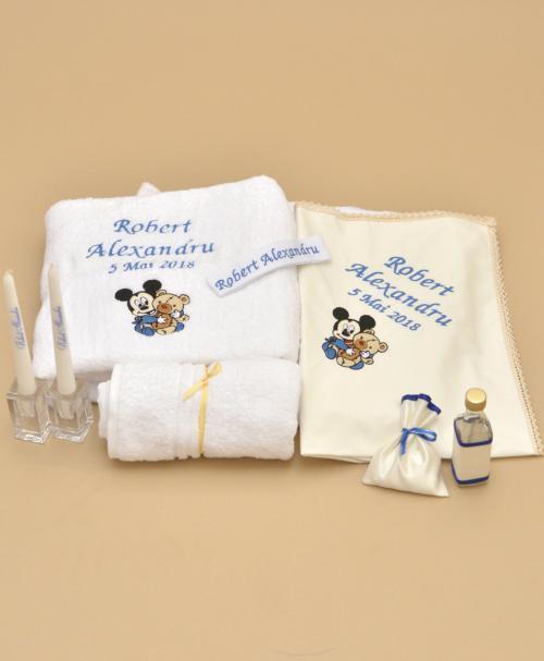 trusou botez personalizat mickey bebelus