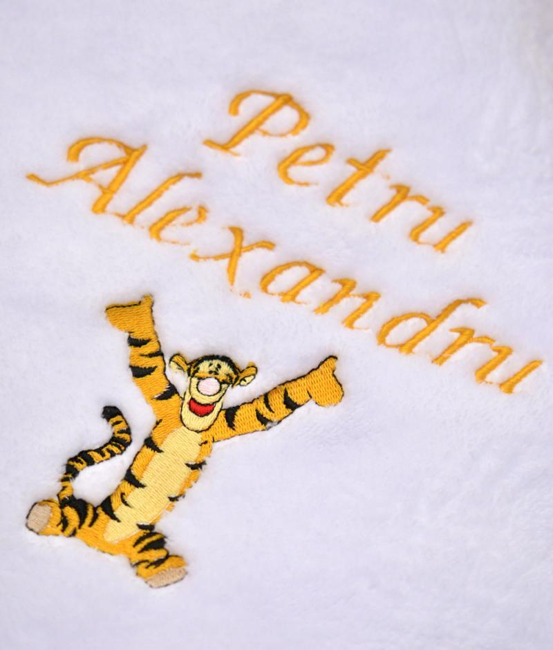 trusou de botez personalizat tigru